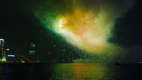 Fire Works in Hong Kong